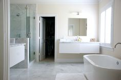 contemporary bathroom by Hilary Walker