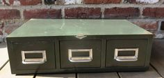 Vintage  Industrial Metal Triple Drawer  by Cole Steel by PortlandiaRevibe