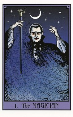 The Magician - Vampire Tarot - If you love Tarot, visit me at www.WhiteRabbitTarot.com