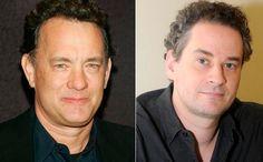 Tom Hanks & Dan Stulbach  Acharam que não tinha brasileiro na lista? Claro que tem! Dan Stulbach é a cara de Tom Hanks, tendo sofrido bastante com a implicância do Casseta e Planeta que sempre o tratou pelo nome do ator americano.