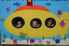 Yellow Submarine Celebration Submarine Craft, Yellow Submarine, Under The Sea Theme, Under The Sea Party, Underwater Theme, Underwater World, Beatles Birthday Party, Kids Boat, Ocean Projects