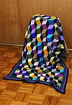 Bold Geometric Afghan Knitting Patterns | In the Loop Knitting