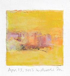Hiroshi Matsumoto - April 17, 2013, Oil on canvas, 9 cm x 9 cm