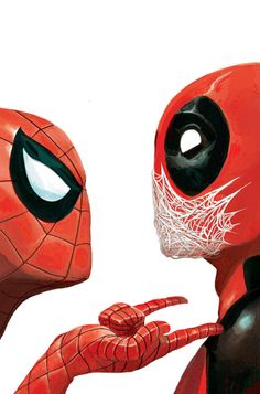 Spiderman and Deadpool Marvel Comics, Heros Comics, Bd Comics, Marvel Heroes, Captain Marvel, Deadpool X Spiderman, Deadpool Wolverine, Deadpool Unicorn, Deadpool Comics