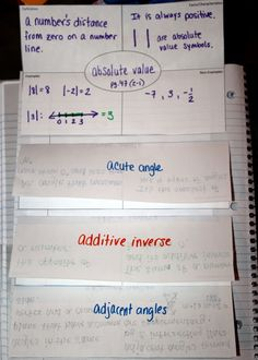Here's a nice example off how to include vocabulary in an interactive notebook.