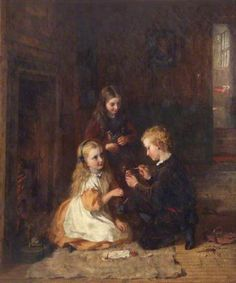 Mending Dolly   by George Bernard O'Neill Date painted: 1868 Oil on canvas, 41.6 x 36.4 cm   Collection:  National Museums Liverpool