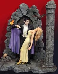 buy Lugosi As Broadway Dracula Model Kit on sale at Urban Collector. Based on the Broadway play that predates the film, Bela Lugosi made the character of Dracula his own Plastic Model Kits, Plastic Models, Lugosi Dracula, Classic Monsters, Figure Model, Horror Films, Horror Art, Frankenstein, Scale Models