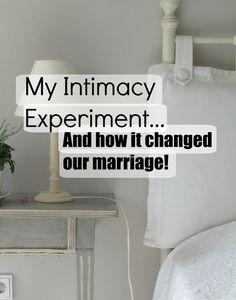 my intamacy experiment..