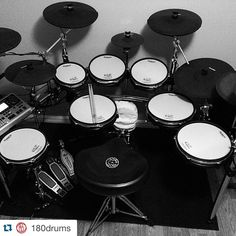 #Repost @180drums with @repostapp. ・・・ ⭕️// What's your take on Electric Drums? Here's #180Student @robert.august's kit! ・・・ My electronic…