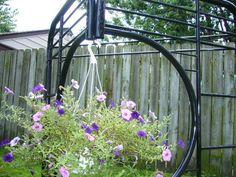 Hanging Basket Trellis #gardening #plants #flowers #decorative #yard #upcycle #reuse