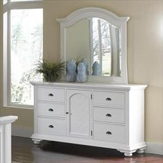 Elements International Group Dresser and Mirror