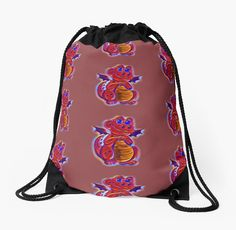 """""""Hot Draco the Dragon in color pattern"""" Drawstring Bags by Keywebco 