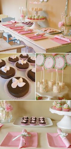 Party snacks.  I was mostly just excited about the chocolate dipped marshmallows with sprinkles!  Cute!