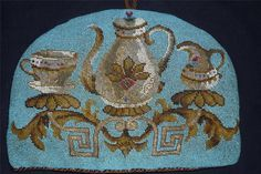 victorian beaded tea cosy