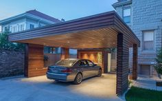 Build a carport yourself - helpful tips for construction and planning Do you live in a house without a garage? In any case, the problem is well known to you: in winter yo Building A Carport, Carport Garage, Pergola Carport, Curved Pergola, Diy Pergola, Pergola Ideas, Pergola Kits, Car Garage, Design Garage