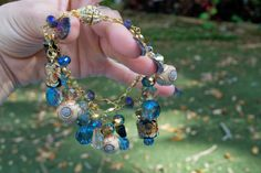 Jewelry Making!  Jesse James Beads: Jewelry Tutorial: 'Charmed I'm Sure' Convertible Bracelet/Necklace