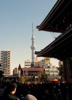 浅草寺からのスカイツリー