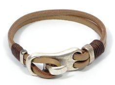 Brazaletes - pulsera de cuero rustica, pulsera marrón hombre - hecho a mano por CozyDetailzUK en DaWanda