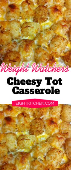 Potatoes go perfectly with cheese, that's commun knowledge! My kids love tater tots so much, so I made this for dinner last night, and it was amazing. Check out my recipe for cheesy tot casserole! Skinny Recipes, Ww Recipes, Recipes Dinner, Potato Recipes, Dinner Ideas, Tater Tot Casserole, Cowboy Casserole, Tater Tots, Weight Watcher Ground Beef Recipe