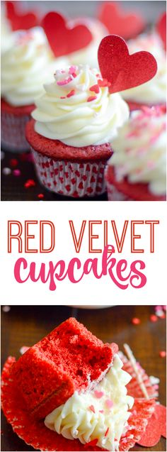 My great-grandmother's recipe for red velvet baked into sweet little cupcakes topped with dreamy cream cheese frosting.