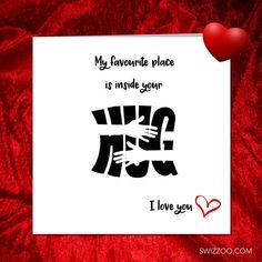 I LOVE YOU. Valentine Anniversary Birthday card. Girlfriend #valentinesday #lovequotes #hug