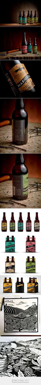 Lakes & Legends Brewing Co. #Beer label design by Trushin Studios - http://www.packagingoftheworld.com/2017/05/lakes-legends-brewing-co-beer.html