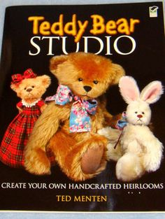 Teddy Bear Studio Book - Beginners & experienced crafters will treasure this expert guide to making one-of-a-kind teddy bears. Full-size basic patterns include adorable costumes for the bears. Step-by-step instructions & more than 150 diagrams explain everything from choosing the right fabric to adding final touches Includes tips & techniques on how to add distinctive facial expressions that transform ordinary craft projects into personal keepsakes. 97 pages soft cover
