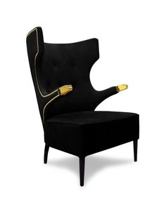 SIKA Armchair | Modern Chairs | Velvet Chair | Chair Design | #modernchairs | #livingroomchairs | #armchairs | Find more at: http://brabbu.com/category/upholstery