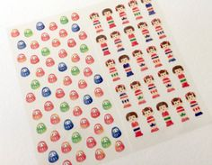 Beautiful Masking Stickers  Traditional by littlehappythings1