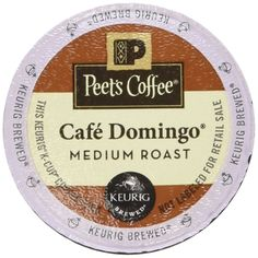 Peet's Coffee Cafe Domingo Medium Roast Single Cup Coffee for Keurig K-Cup Brewers 40 count >>> Visit the image link more details.