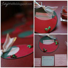 DIY Christmas party invitations