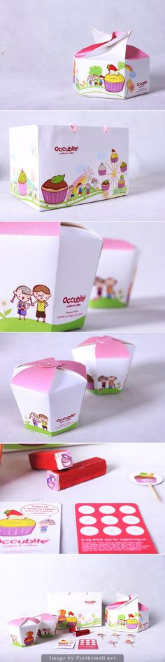 Occubite cute muffin packaging concept curated by Packaging Diva PD