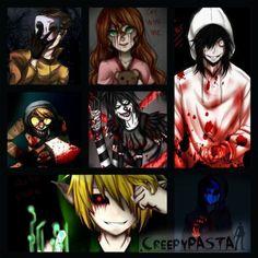 Masky, Sally, Jeff, Lj, Toby, BEN, Ej