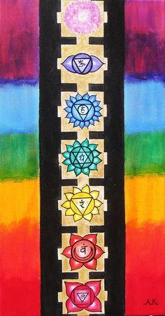 I find it helpful in balancing my chakras to meditate on the chakra symbols Arte Chakra, Chakra Art, Chakra Healing, Mandala Art, Art Surf, Chakra Painting, Animal Reiki, Chakra Symbols, Sacred Geometry