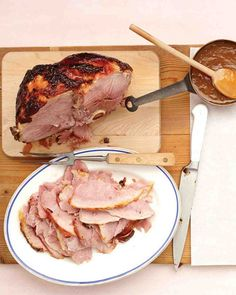 Glazed Ham with Apricot-Mustard Sauce from Martha Stewart