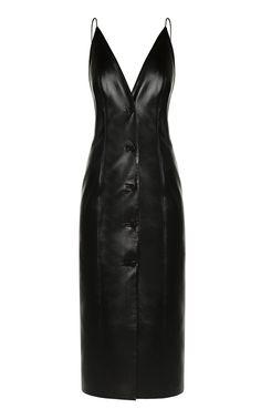 Vegan Leather Button-Down Dress by MATÉRIEL for Preorder on Moda Operandi