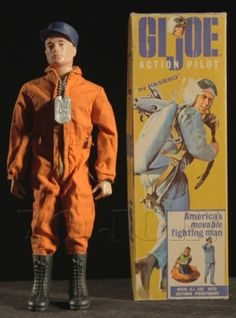 Action Pilot G. Joe Action Figure - YoJoe Archive - Action Pilot was released in 1964 and available until Z Gi Joe Doll, Military Action Figures, Toy Soldiers, Classic Toys, Old Toys, Reaction Pictures, Vintage Toys, Old Photos, Dog Tags