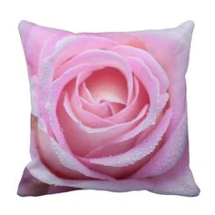 Pink Rose Throw Pillow by www.zazzle.com/htgraphicdesigner* #zazzle #pillow #cushion #rose #gift #giftidea #pink #beautiful