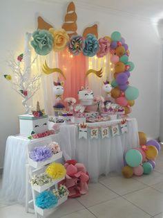 Candy bar jijj iicorniosmmmm un jbbbķhhh h hgvnnnmmmm y jjjjjjújkķlikkosusj Unicorn Themed Birthday Party, Baby Girl Birthday, 1st Birthday Parties, Birthday Party Decorations, Unicorn Baby Shower, Baby Party, First Birthdays, Fiesta Decorations, Unicorn Birthday Cakes