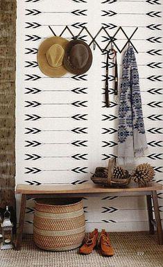 Tapestry Wallpaper in Zuni design by Cavern Home   BURKE DECOR