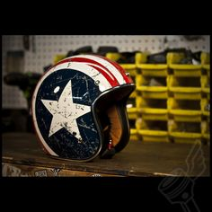 "Torc Route 66 T50 ""Rebel Star"" 3/4 Helmet (DOT Approved)"