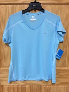 Columbia Sportswear Omni Freeze Zero Womens Short Sleeve Blue Size XL NWT #Columbia #ShirtsTops