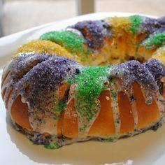 Homemade By Holman: King Cake. The bourbon raisin filling is intruguing!