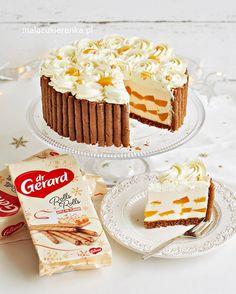 Tort Brzoskwiniowy z Jogurtem BEZ PIECZENIA Krispie Treats, Rice Krispies, Cheesecake, Rolls, Baking, Cakes, Food, Drink, Beverage