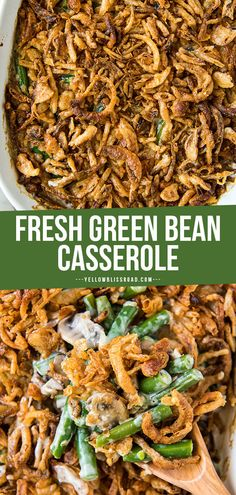 This fresh, from scratch Green Bean Casserole is made with pantry ingredients and no canned soup! Yet it's creamy, flavorful and absolute comfort food. Soup Appetizers Soup Appetizers dinners carb Soup Appetizers Appetizers with french onion Green Bean Casserole Bacon, Homemade Green Bean Casserole, Greenbean Casserole Recipe, Casserole Recipes, Creamy Green Beans, The Best Green Beans, Beste Brownies, Soup Appetizers, Thanksgiving Side Dishes