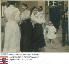 Tatiana with her Aunt Victoria and Hessian Cousins