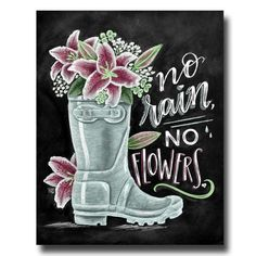 No rain, no flowers chalk art box sign Kerrie legend - Kerrie legendLeave it snow creative blackboard kitchen decoration to attract attention - TRENDUHOME- While whiteboards may be more attractive, there are those who Summer Chalkboard Art, Chalkboard Doodles, Chalkboard Art Quotes, Blackboard Art, Chalkboard Print, Chalkboard Drawings, Chalkboard Lettering, Chalkboard Designs, Chalk Drawings