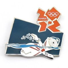 Price: $9.99 - 2012 Olympics Mascot Swimming Pin - TO ORDER, CLICK THE PHOTO