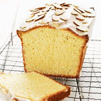 Glazed Almond Pound Cake Recipe substitute 1/2 & 1/2 or cream for milk