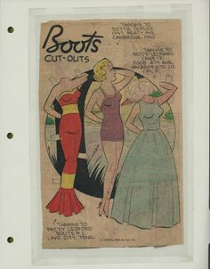 8-9-59 Boots paper doll / eBay